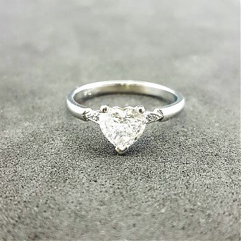 Heart shaped 0.72ct diamond